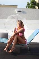 ruffle bikini CastlesCouture swimwear - asos earrings