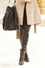 Black-madison-harding-boots-tan-banana-republic-coat
