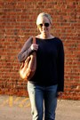 Blue-gap-jeans-navy-gap-sweater-camel-onna-ehrlich-purse