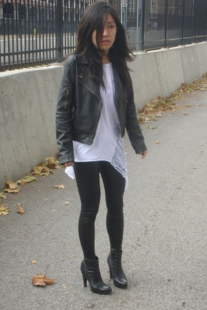 Urban Outfitters jacket - Hanes shirt - American Apparel - shoes