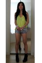 t by alexander wang t-shirt - Topshop shorts - Tristan Blair boots