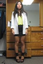 Zara blazer - Alexander Wang top - American Apparel skirt - Jil Sander shoes