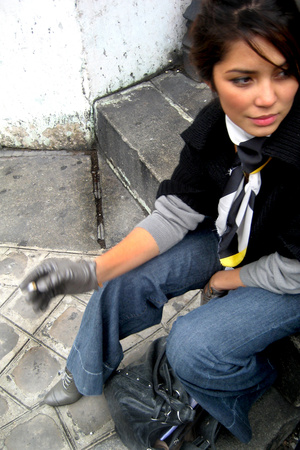 Mango jeans - morgane gloves - shoes