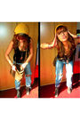 Blue-levis-jeans-black-h-m-shirt-gray-allsaints-boots-gold-h-m-hat