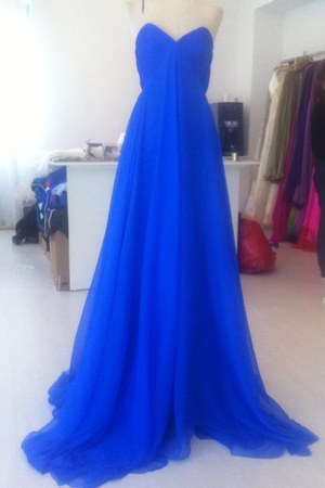 blue silk shifon Ana Radu dress