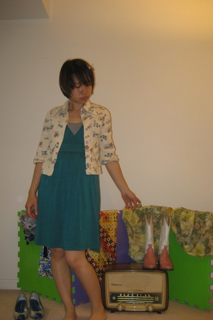 Urban Planet dress - TNA top - vintage shirt