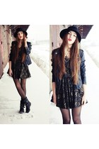 H&M hat - Zara boots - dress - H&M jacket