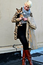 Tawny-etienne-aigner-boots-dark-khaki-vintage-burberry-coat