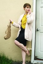beige Forever21 pumps - beige Aldo purse - light pink Gap cardigan