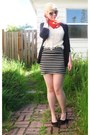 Red-h-m-scarf-heather-gray-forever21-skirt-navy-jcrew-cardigan-light-pink-