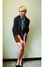 Brown-harmonic-cardigan-brown-skirt-black-nordstrom-shoes