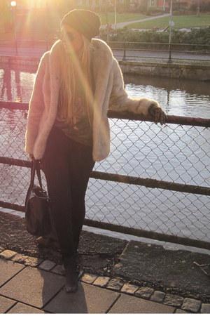 jacket - boots - jeans - bag