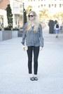 Black-denim-j-brand-pants-charcoal-gray-silk-aritzia-shirt