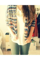 Forever 21 cardigan - Primark shirt - H&M pants