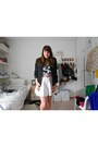 Secondhand-blazer-h-m-divided-skirt-bershka-top-primark-belt