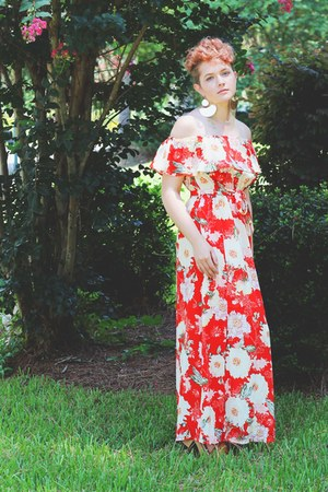 red floral dress asos dress