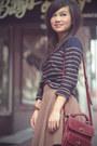 Crimson-wrap-friendship-diy-bracelet-navy-forever-21-sweater