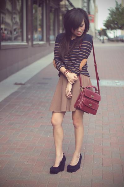 navy velvet wholesale-dressnet wedges - navy Forever 21 sweater