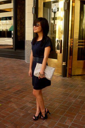 blue Forever 21 dress - pink H&M purse - blue Forever 21 belt - black cutesygirl
