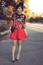 Black-floral-print-asos-sweater-puce-zara-bag