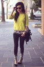 Dark-gray-ombre-romwe-jeans-yellow-forever-21-sweater
