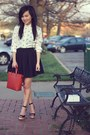 Burnt-orange-zara-bag-ivory-zara-blouse-black-basic-pleated-forever-21-skirt