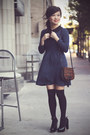 Black-over-the-knee-forever-21-socks-navy-asos-dress