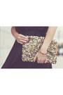 Black-love-dress-gold-collar-h-m-necklace-gold-sequinned-zara-wallet