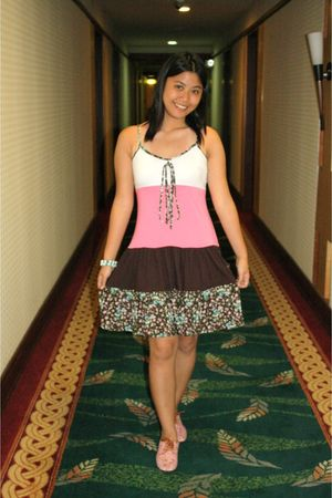 pink supre dress - pink ichigo shoes - tiangge accessories