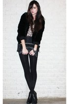 leopard print H&M blouse - ankle Steve Madden boots