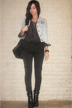 Forever 21 jacket - H&amp;M Trend blouse - H&amp;M pants - Target purse - alice  olivia 