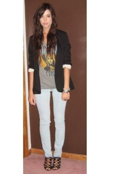 Target blazer - Urban Outfitters t-shirt - forever 21 jeans - Aldo shoes - forev