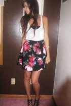 forever 21 top - Charlotte Russe bra - Charlotte Russe skirt - Aldo shoes - fore