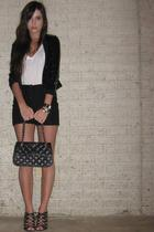 H&M jacket - Target t-shirt - forever 21 shorts - New York & Company purse - Ald