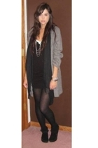 H&M sweater - forever 21 scarf - H&M dress - Target tights - Minnetonka shoes -