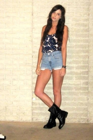 Richard Chai for Target top - Vintage Levis shorts - Target boots - forever 21 a