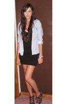 American Eagle shirt - H&M dress - forever 21 necklace - forever 21 bracelet - T