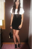 forever 21 dress - Nine West shoes - New York & Company purse - forever 21 neckl