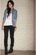 black forever 21 Forever 21 necklace - black forever 21 Forever 21 jeans