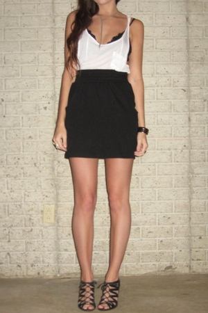 forever 21 top - H&M bra - forever 21 skirt - Aldo shoes - forever 21 necklace -
