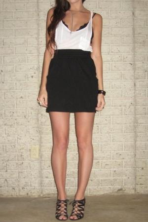 forever 21 top - H&M bra - forever 21 skirt - Aldo shoes - forever 21 necklace -