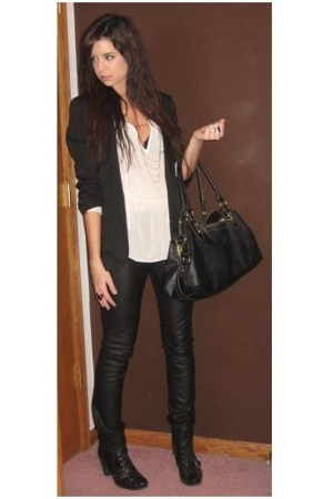 black Target blazer - black Nine West shoes - black Target purse