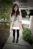 Sportsgirl jacket - t-shirt - supre skirt - Midas scarf - boots