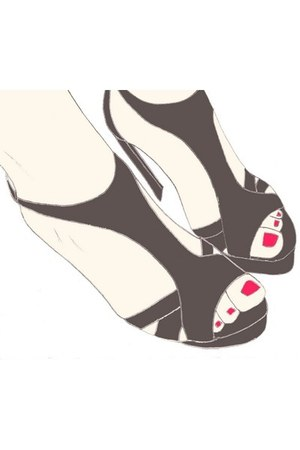 charcoal gray Zara sandals