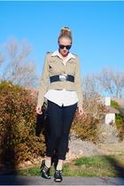 black Forever 21 pants - black Target shoes - beige Target socks - white Isaac M