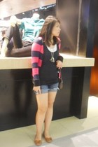 Forever21 shorts - Mango blouse - bench blouse - cardigan - accessories - Esprit