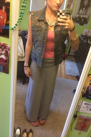 maxi skirt Marshalls skirt - tank top Target top - jean True Religion vest