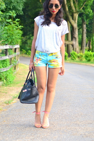 floral ralph lauren denim and supply shorts - Hermes bag