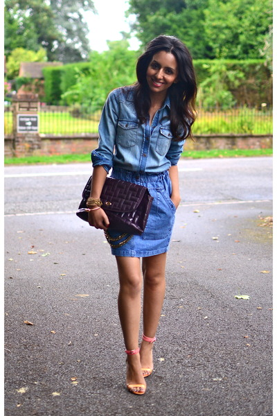 denim Levis shirt - denim asos skirt