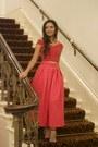 Crop-new-look-top-a-line-closet-london-skirt